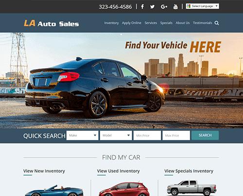 Dealer website layouts