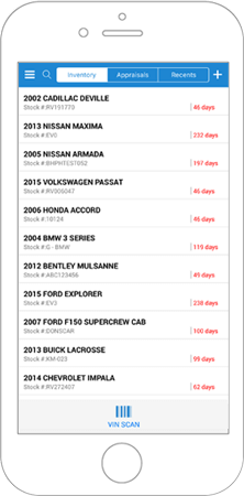 Manage your dealership inventory with our mobile app