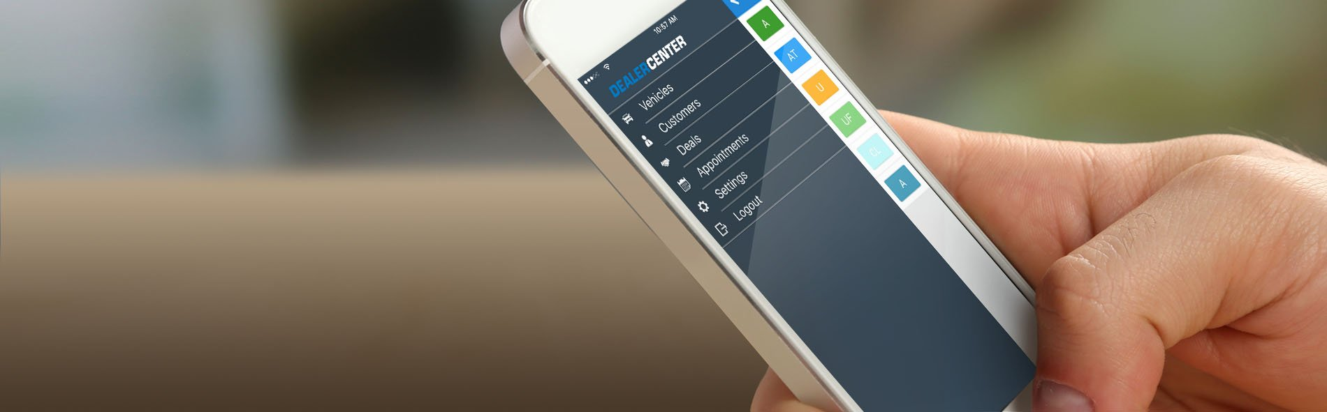 DealerCenter mobile app