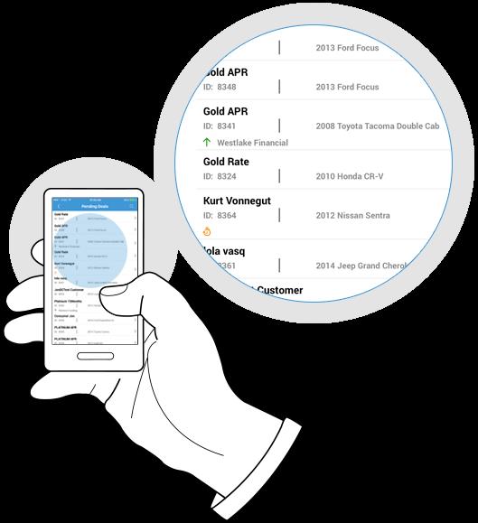 Deal management on mobile app